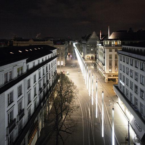 View at Paradeplatz; Photo by Roman Keller