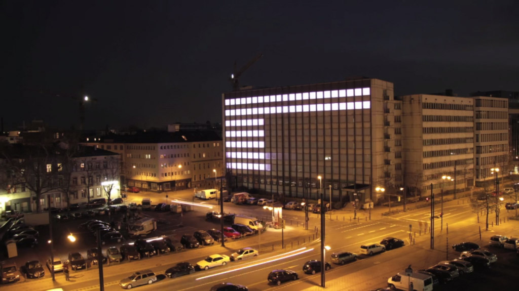 LowRes - Interactive light installation by sensory minds for the Luminale 2014 © Sensory-Minds and Tomas Zebis