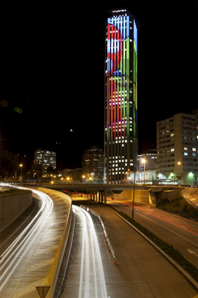 Colpatria tower. &Copy; Steven King, Philipps proyectos Colombia