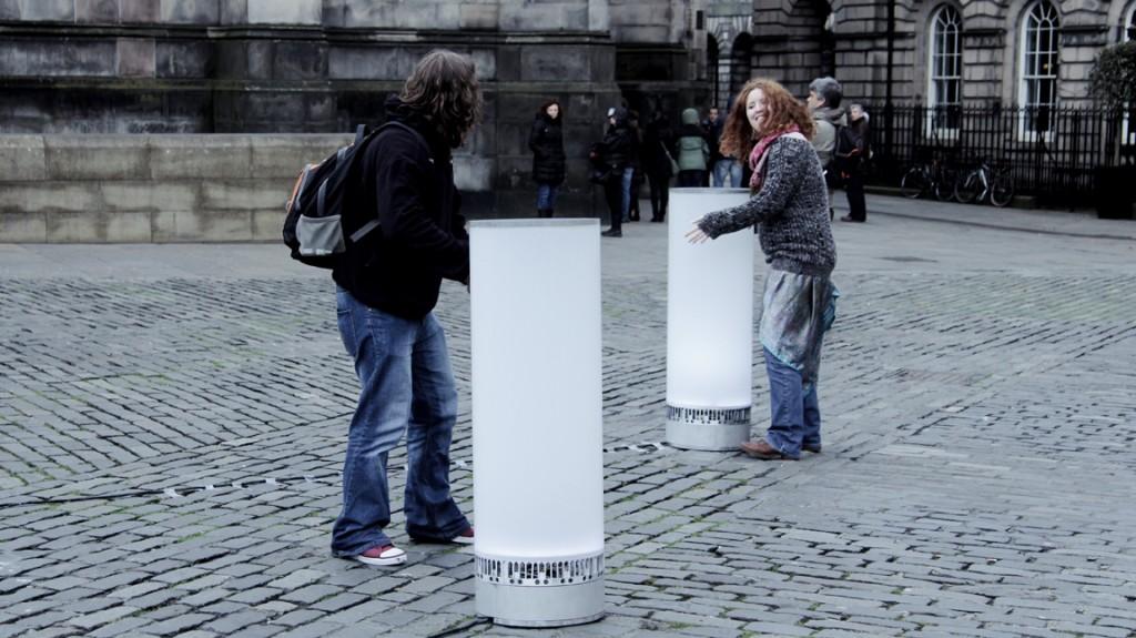 Tangible Orchestra - interactive installation at Royal mile, Edinburgh - © Rebecca Gischel and Sebastian Walter