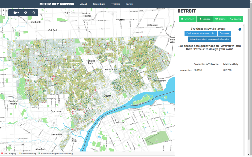 Motor city mapping project © https://www.motorcitymapping.org