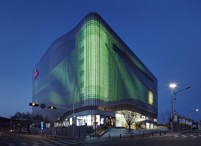 Animated Green Buildings : Mai galleria centercity cheonan winner mab